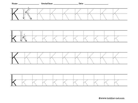 printable alphabet tracing worksheets for pre k free tracing letter k worksheet