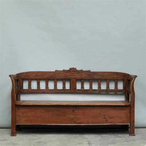 vintage bench with storage antique storage bench with original paint circa 1920 for
