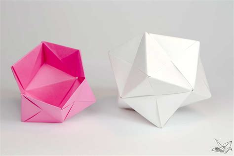 Origami Calculator - modular origami sonobe bowl tutorial paper kawaii