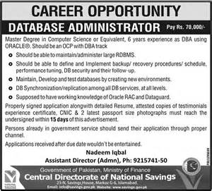 central directorate of national savings jobs 2017 jobs
