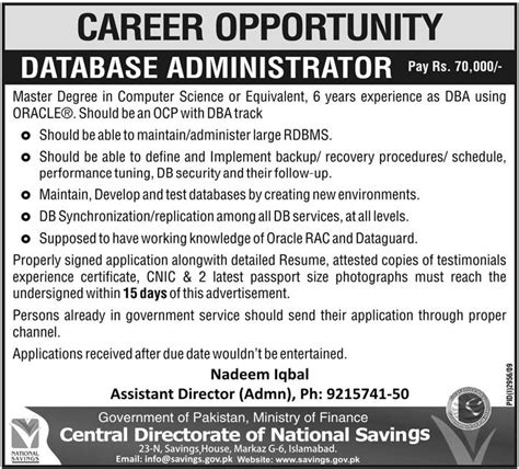 Online Marketing Resume Sample by Central Directorate Of National Savings Jobs 2018 Jobs