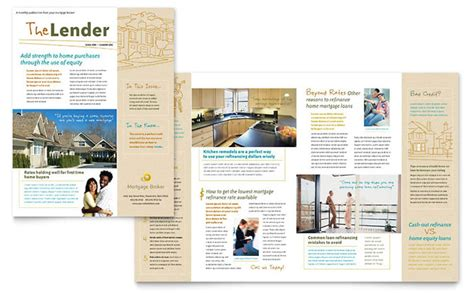 Loan Newsletter Mortgage Broker Newsletter Template Design