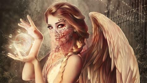 wallpaper guardian angel magic heaven hd  fantasy