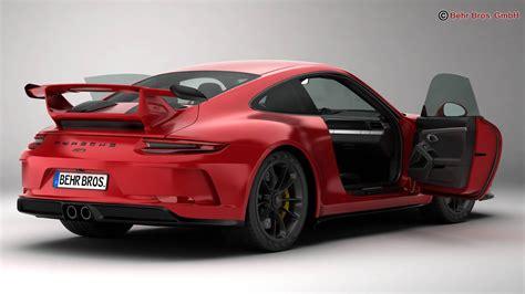 Model Porsche 911 by Porsche 911 Gt3 2018 3d Model Buy Porsche 911 Gt3 2018