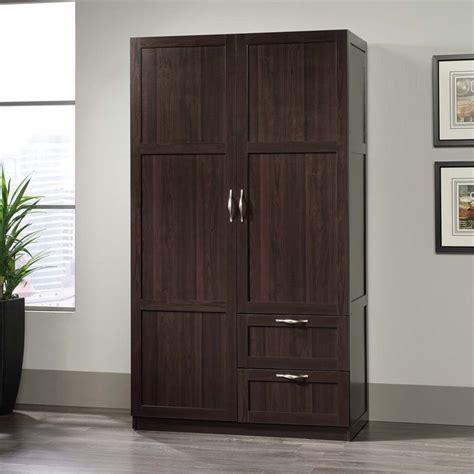 sauder armoire wardrobe sauder select wardrobe armoire in cinnamon cherry 420055
