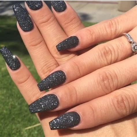 Nail And More by Best 25 Black Glitter Nails Ideas On Black