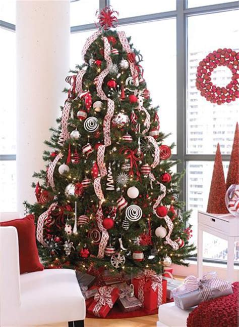 christmas tree ideas lovely ribbon effect christmas