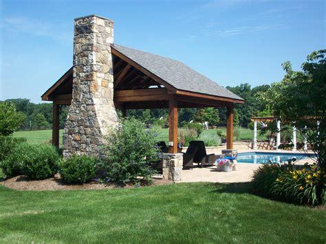 backyard pavilion plans landscape landscape design patios