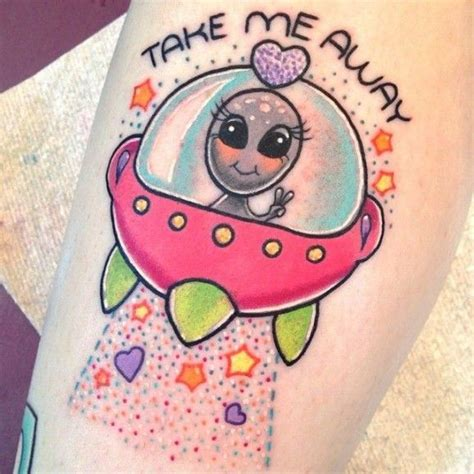 cute alien tattoos if you love aliens but don t want it