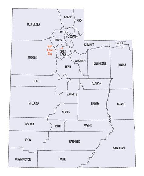 utah counties map utah county map