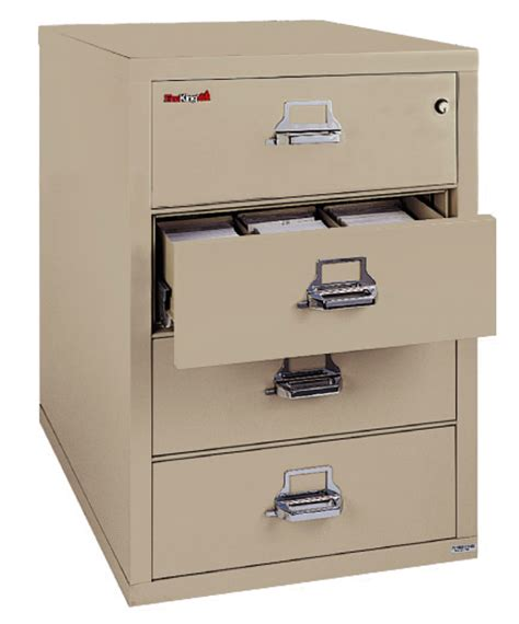 fireking 4 drawer card check note filing cabinet 4 2536 c