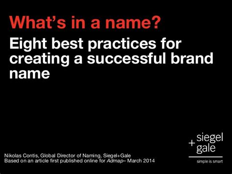 what s in a name what s in a name eight best practices for creating a
