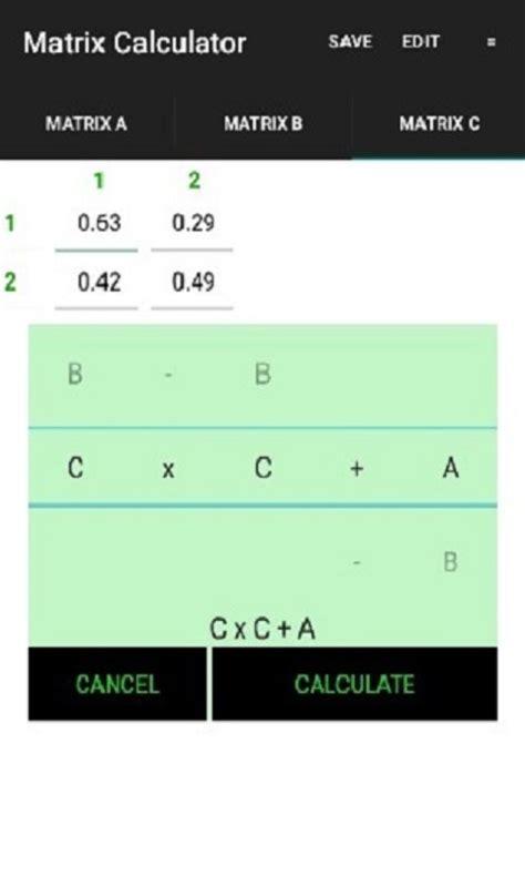 calculator matrix amazon com matrix calculator appstore for android