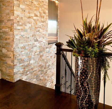 stone veneer wall contemporary staircase denver