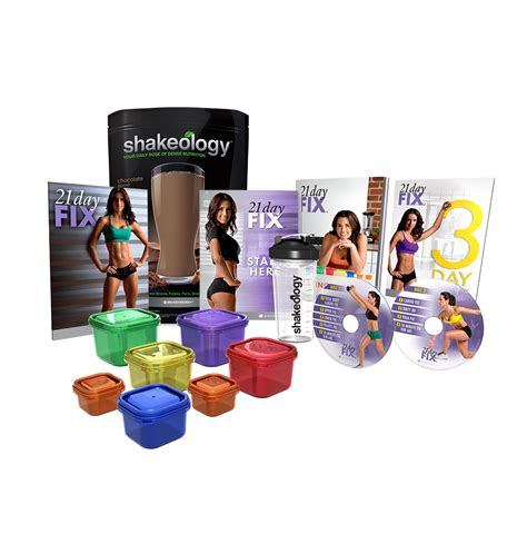 21 day shakeology challenge 21 day fix challenge pack