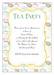 printable tea invitations