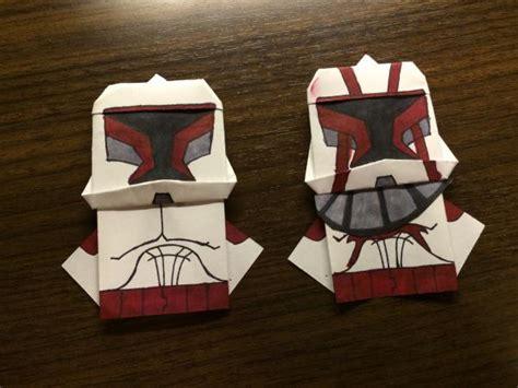 Origami Clone Trooper - clone wars origami yoda