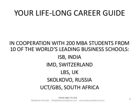 Mba Career Opportunities In South Africa by Do You Of Becoming A Ceo If Your Deam Is To Become