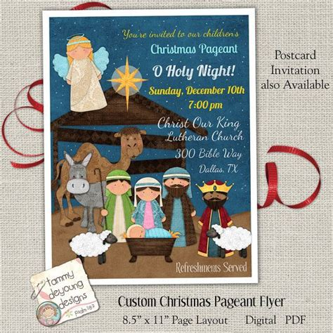 83 Best Nativity Christmas Crafts Images On Pinterest Christmas Crafts Christmas Nativity Set Nativity Flyer Template