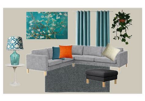teal and gray living room house