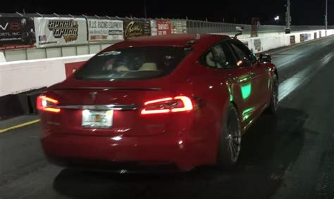 Tesla S Quarter Mile Tesla Model S P100d Set S 1 4 Mile Record For