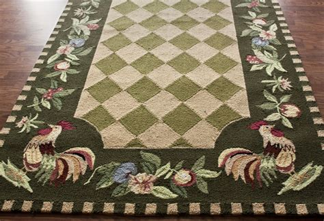 Rooster Area Rugs Country Kitchen Fruit Area Rugs New Carpet Rooster Hooked Wool 6 Green Carpets Green