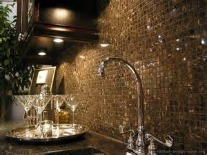 Kitchen Glass Tile Backsplash Gold Metallic Glass Tile Kitchen Backsplash So Into Decorating