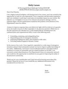 firefighter cover letter examples for emergency services