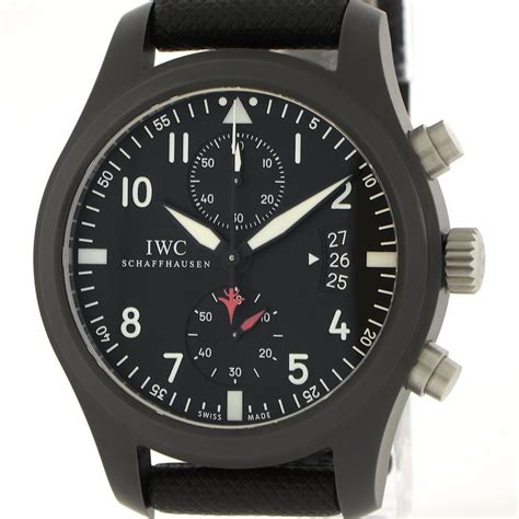 Iwc Top Gun Chrono On Semua Black List iwc pilot s chronograph top gun