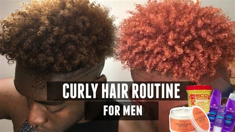 how to get curly hair for black men curly hair routine for black men updated youtube