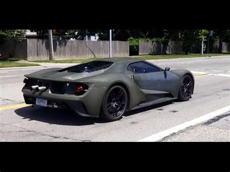 2017 ford gt driving on road youtube