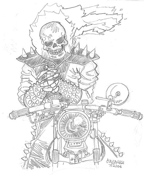 free ghost rider head coloring pages