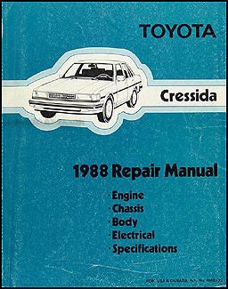 download car manuals pdf free 1992 toyota cressida lane departure warning 1988 toyota cressida service manual