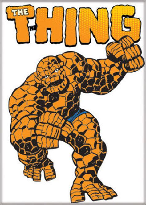 the thing marvel comic book the thing fantastic four fridge magnet classic vtg style