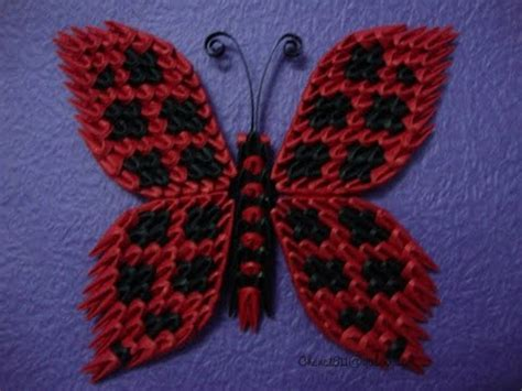 origami 3d mariposa butterfly tutorial origami butterfly 3d youtube