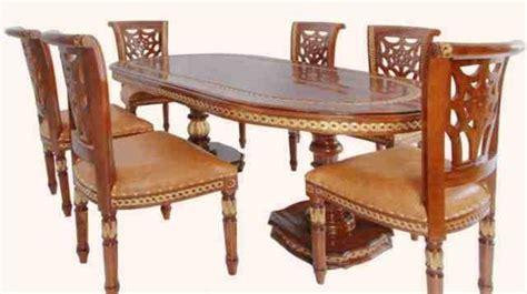 aplikasi kayu jati pada furniture rumah d sign elegantly carved dining table teak wood carving