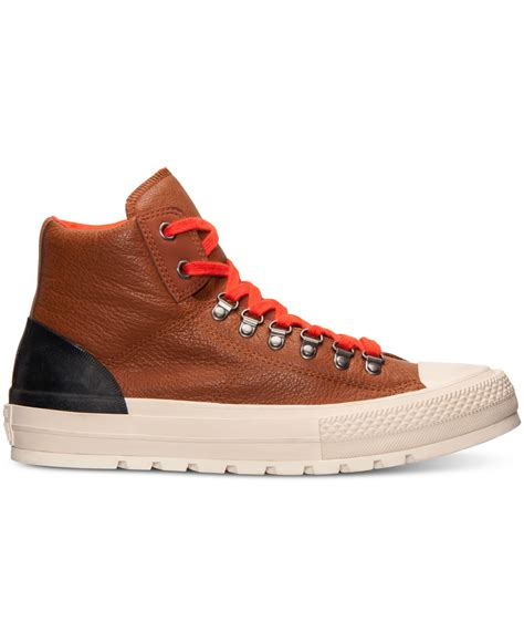 Jaket Convers Line converse s chuck all hiker hi sneakerboots from finish line in brown for