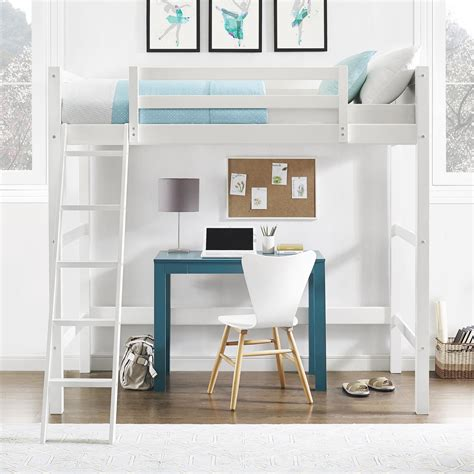 teen loft bed with desk dorel living your zone loft bed white