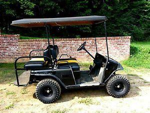 1988 ez go marathon electric golf cart with rain curtains