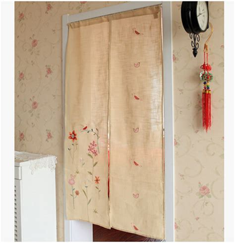 japanese kitchen curtains japanese style door curtain pastoral style split half