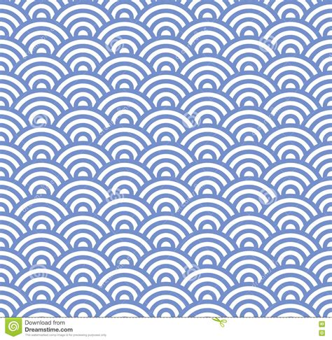 pattern blue vector wave seamless blue pattern vector stock vector image