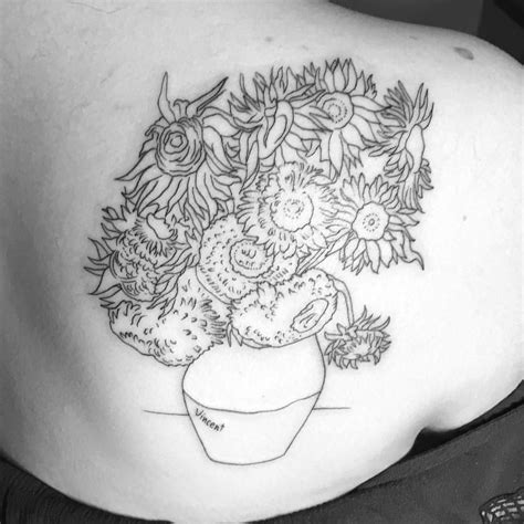 van gogh sunflower tattoo gogh sunflowers for charmingchelsea1996 for an