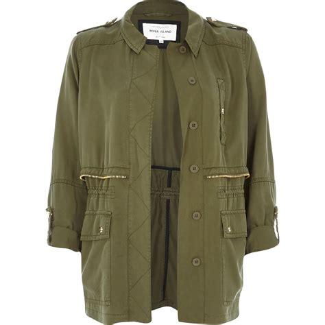 Khaki Jacket river island khaki utility casual jacket in khaki