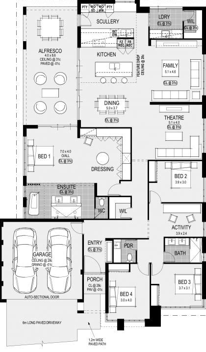 san francisco platinum floorplan  house plans   home design floor plans dream