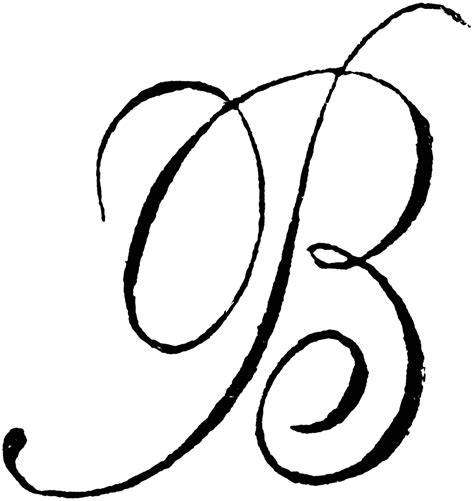 the letter b in cursive maybe paint this above the