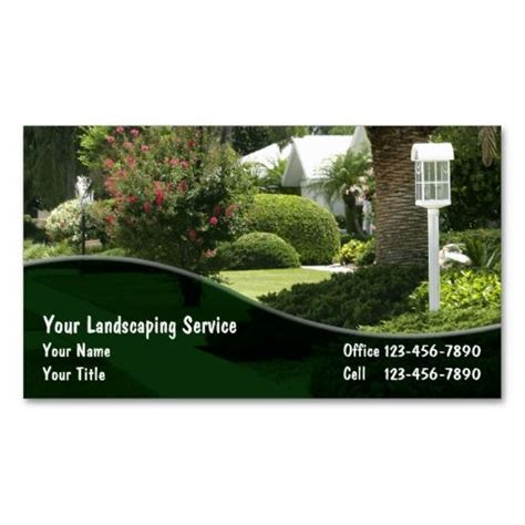 landscape design business card templates 196 best images about lawn care business cards on