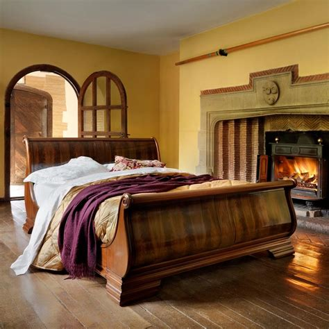 and so to bed our hand carved wooden sleigh bed farmhouse pinterest