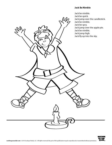 coloring pages jack be nimble live speakaboos worksheets