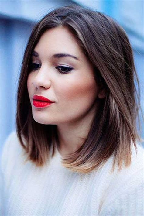 shoulder length blunt cut 25 medium length bob haircuts bob hairstyles 2017