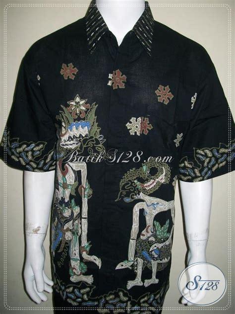 Hem Batik Kantor Jumbo Hitam Kemeja Batik Big Size 3l B60717007 kemeja batik tulis istimewa asli buatan jawa tengah hem batik lengan pendek warna hitam